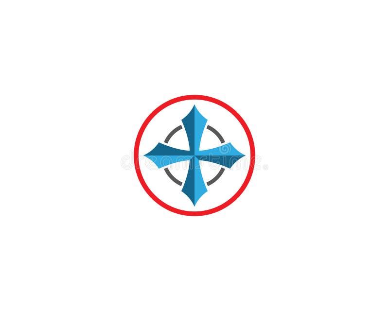 ?cone do vetor do compasso ilustração stock