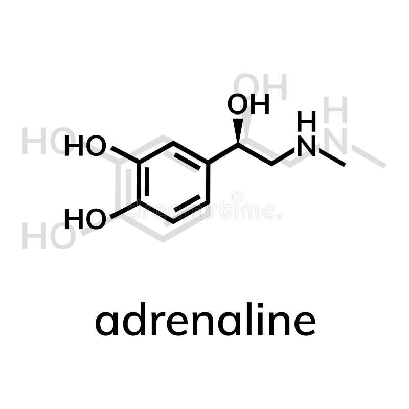 ?cone do vetor da adrenalina com sombra ilustração stock