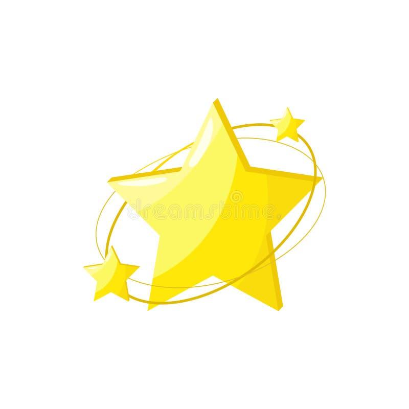 ?cone do vetor da estrela Estrela bonito isolada ilustração stock