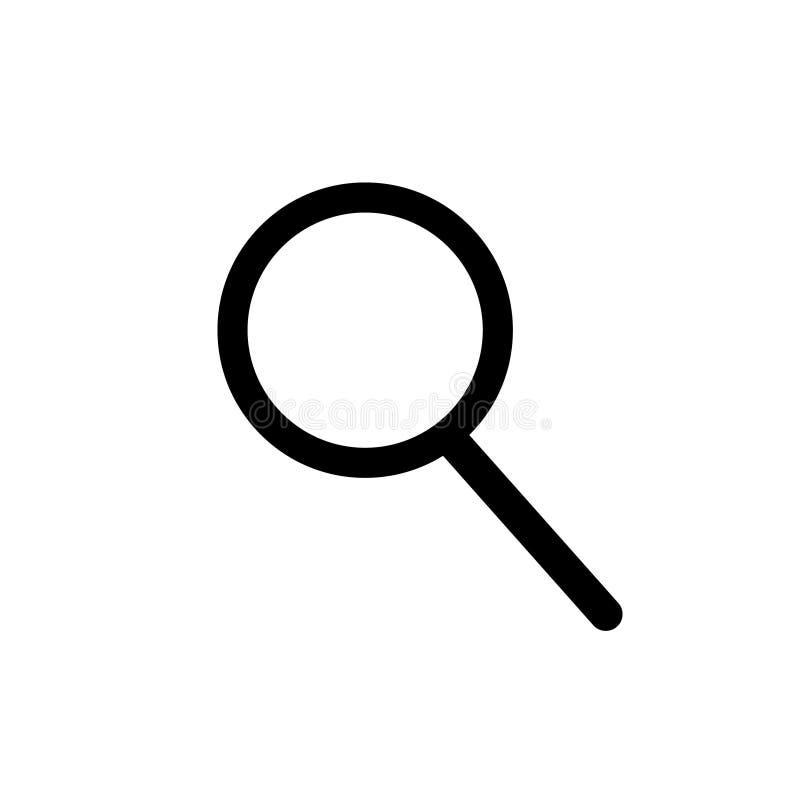 ?cone do vetor da lupa A lente de aumento lisa para explora ou procura O zumbido amplia o ícone para a Web, meio social Vetor ilustração royalty free