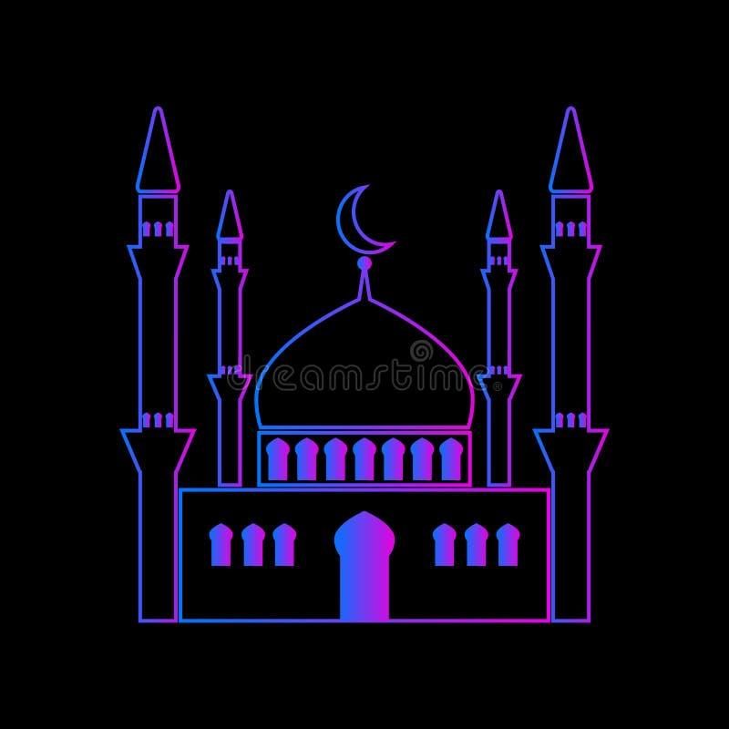 ?cone do vetor da mesquita ilustração stock