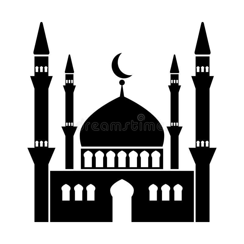 ?cone do vetor da mesquita ilustração royalty free