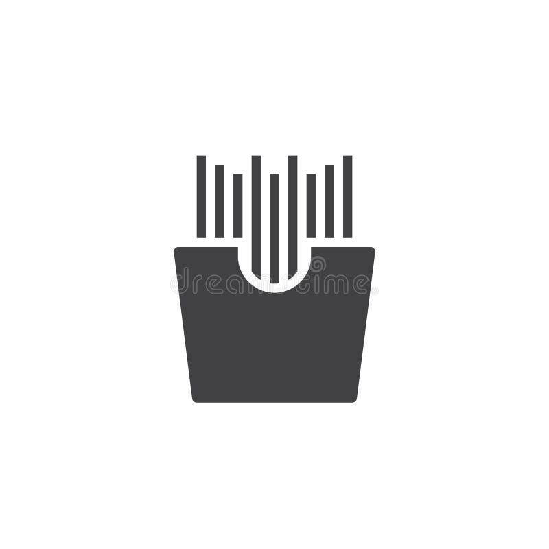 ?cone do vetor das batatas fritas ilustração stock