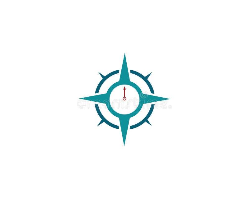 ?cone do vetor de Logo Template do compasso ilustração royalty free