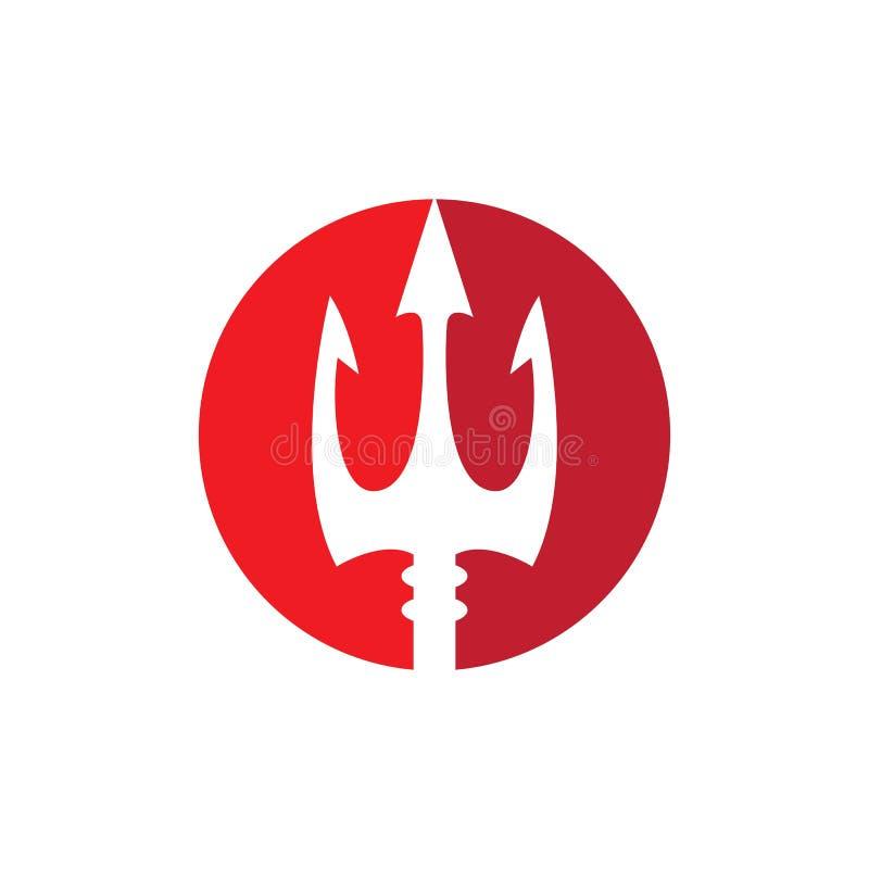 ?cone do vetor de Trident Logo Template ilustração royalty free