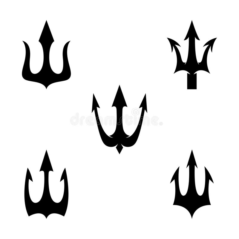 ?cone do vetor de Trident Logo Template ilustração stock
