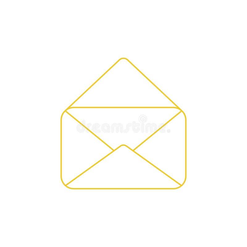 ?cone do vetor do envelope aberto do correio ilustração do vetor