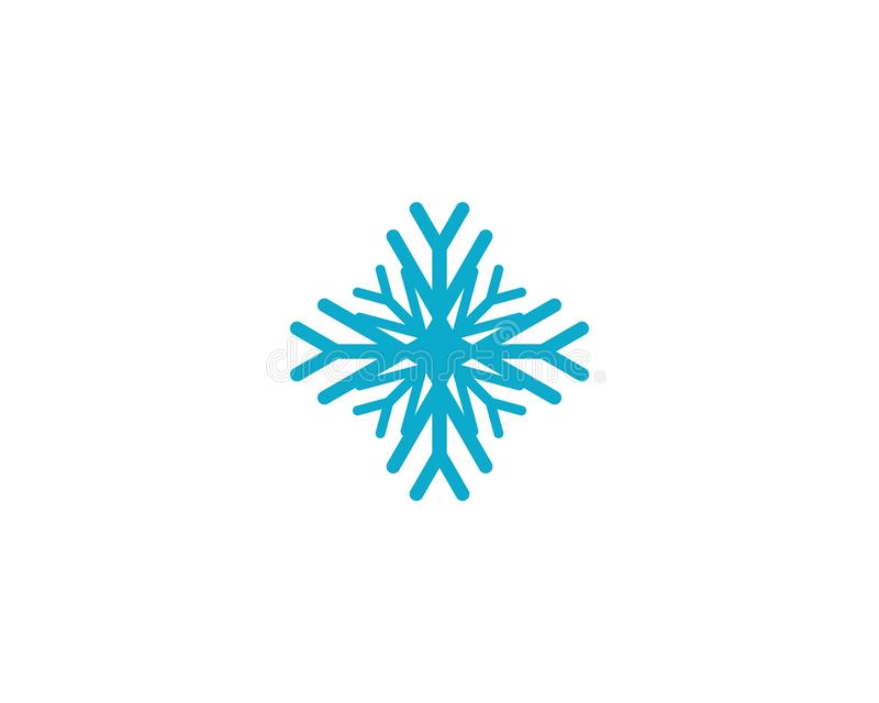?cone do vetor do floco de neve ilustração do vetor