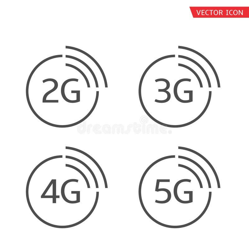 ?cone do vetor 5G ilustração do vetor