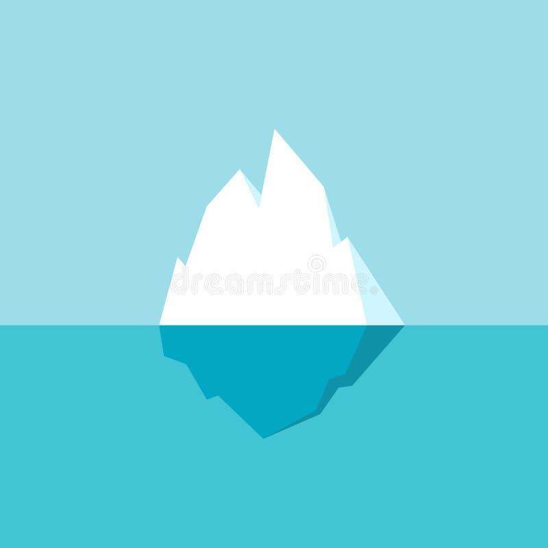 ?cone do vetor do iceberg ilustração stock