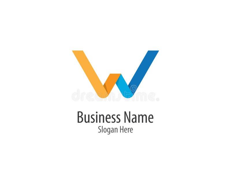 ?cone do vetor do logotipo da letra de W ilustração stock