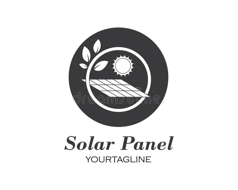 ?cone do vetor do logotipo do painel solar ilustração do vetor