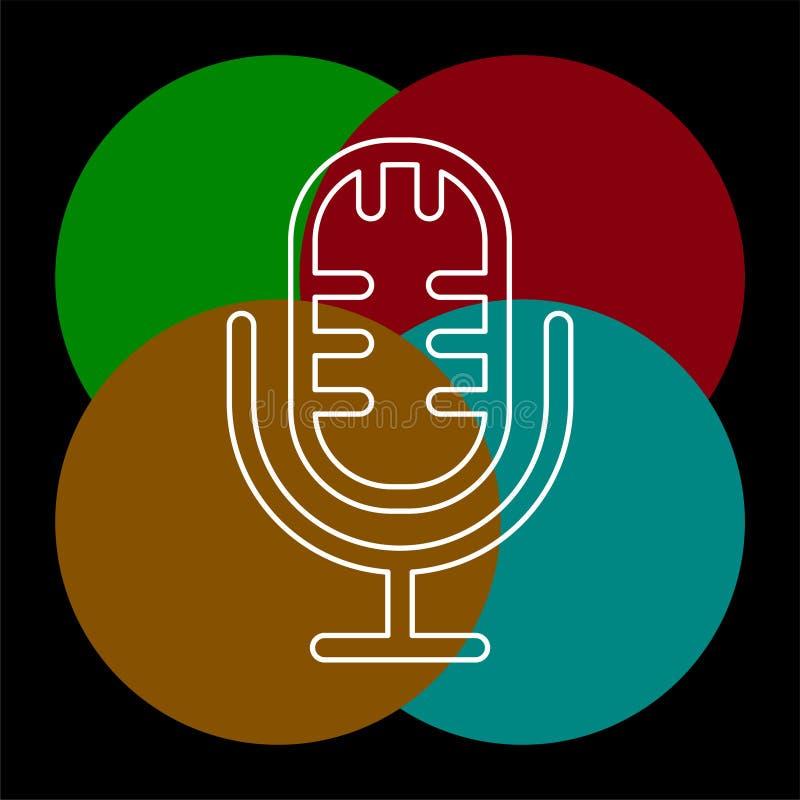 ?cone do vetor do microfone ilustração do vetor