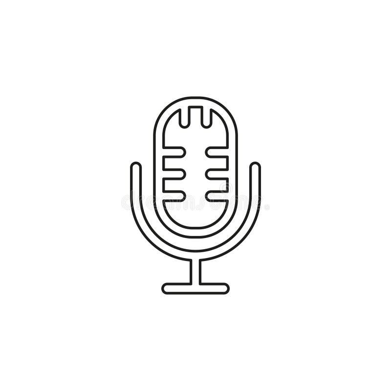 ?cone do vetor do microfone ilustração royalty free