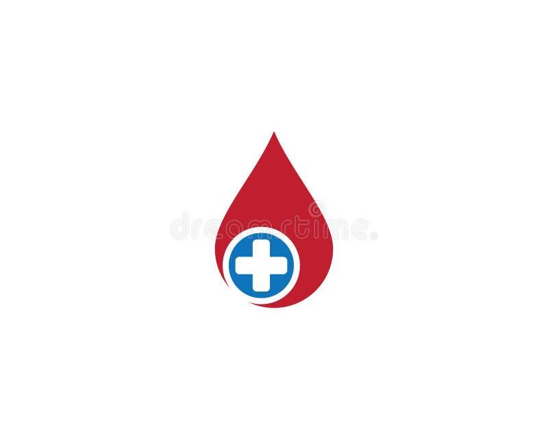 ?cone do vetor do molde do logotipo do sangue ilustração do vetor