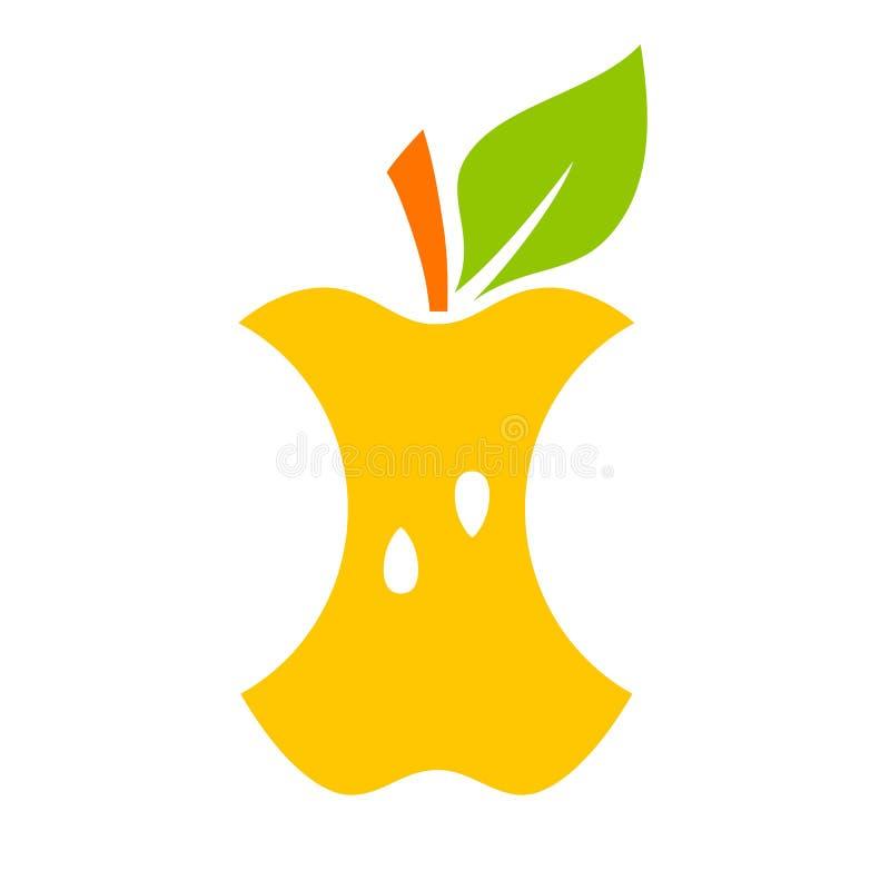 ?cone do vetor do n?cleo de Apple ilustração royalty free