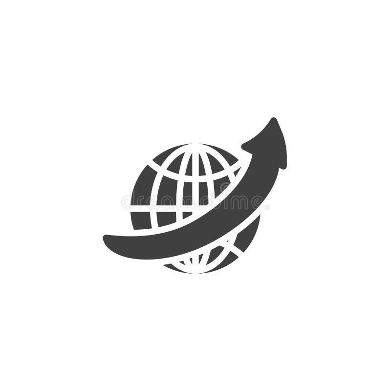 ?cone do vetor do navegador de Internet ilustração stock