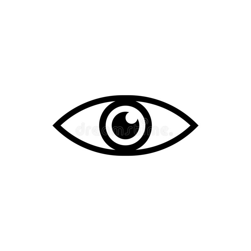 ?cone do vetor do olho ?cone olhe e do vis?o ilustração royalty free
