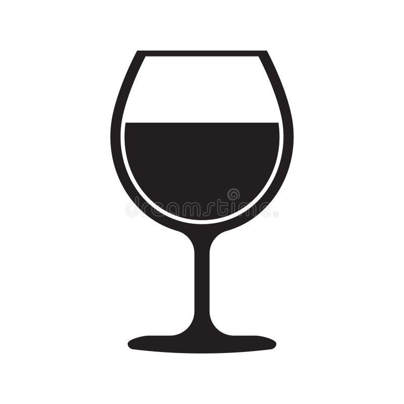 ?cone do vidro de vinho ilustração royalty free