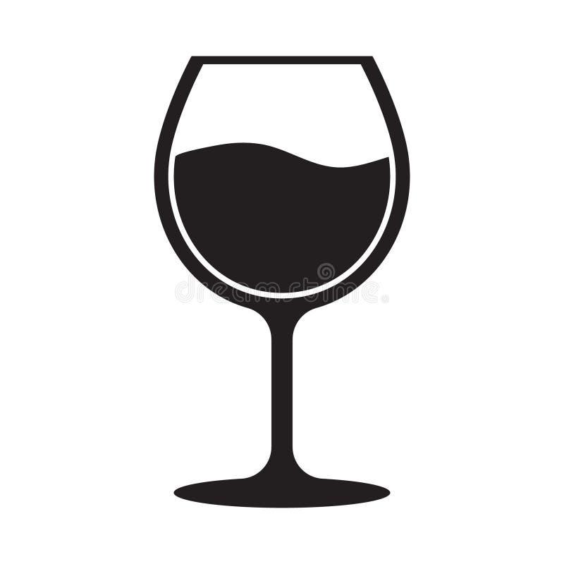 ?cone do vidro de vinho ilustração do vetor