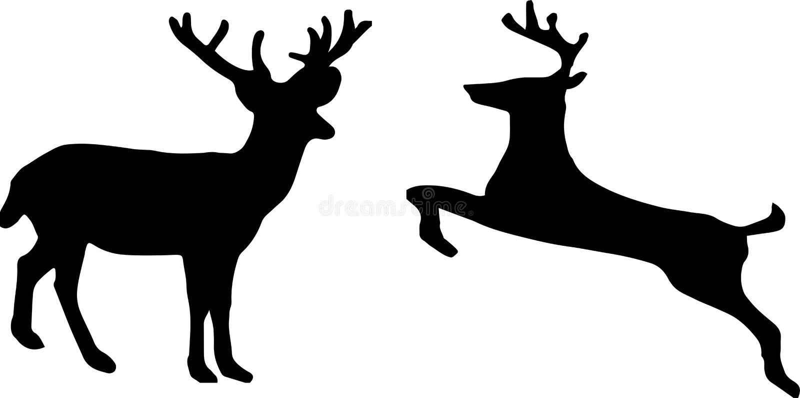 ?cone dos cervos no fundo branco ilustração stock