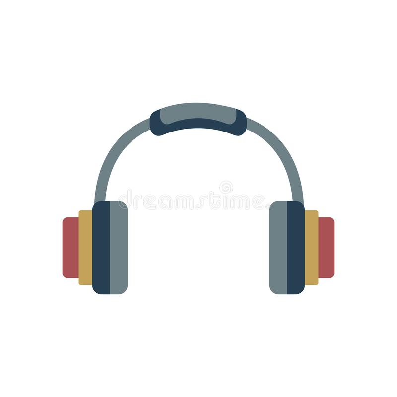 ?cone dos fones de ouvido Elemento para o projeto ilustração royalty free