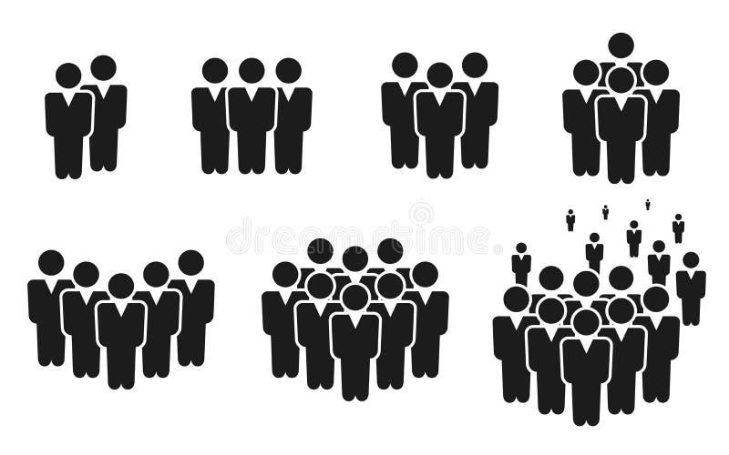 ?cone dos povos ajustado no estilo liso na moda O projeto do Web site do infographics do símbolo das pessoas, logotipo, app, UI i ilustração stock
