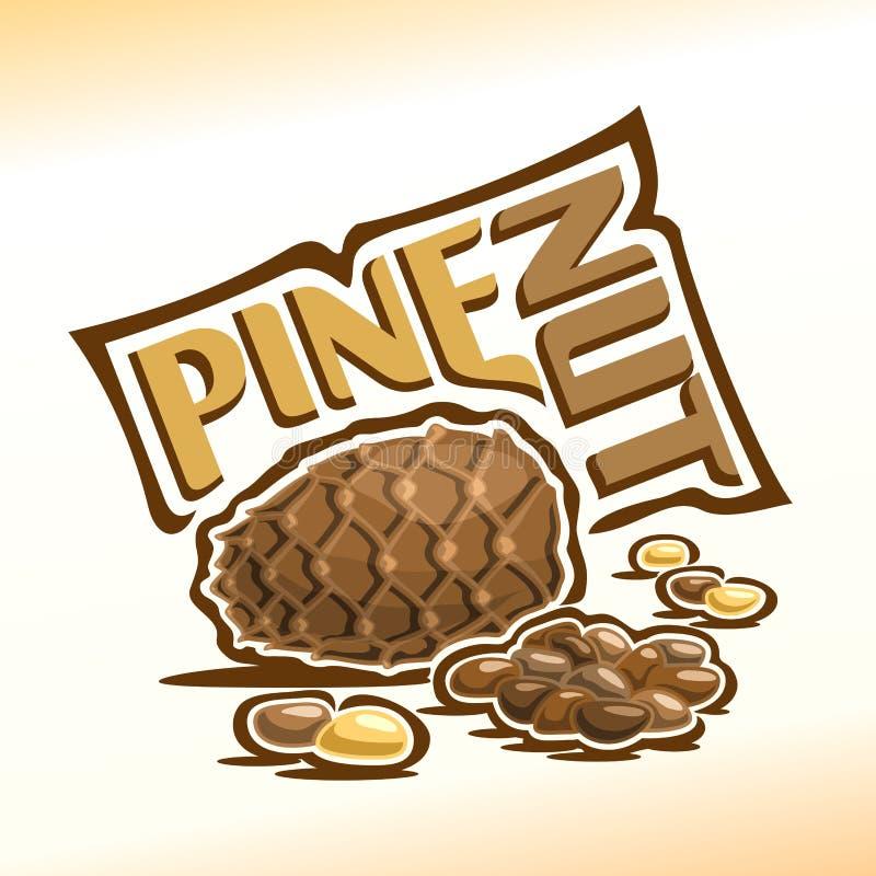 Cone e pinhões do cedro ilustração royalty free