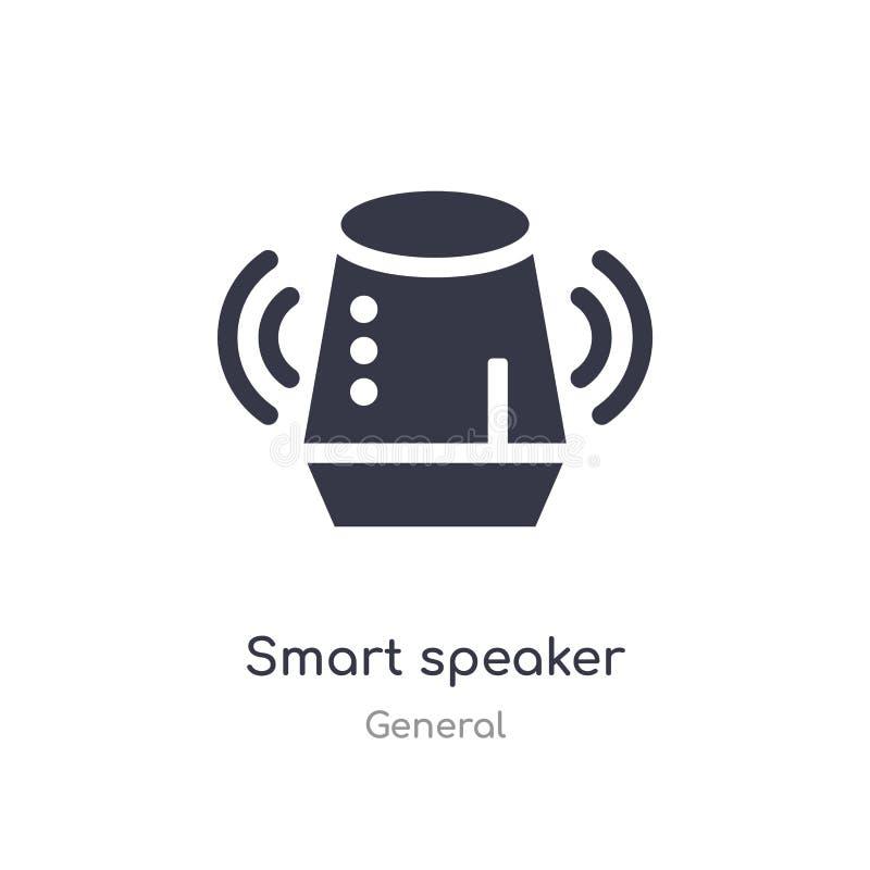 ?cone esperto do orador ilustração esperta isolada do vetor do ícone do orador da coleção geral edit?vel cante o s?mbolo pode ser ilustração stock
