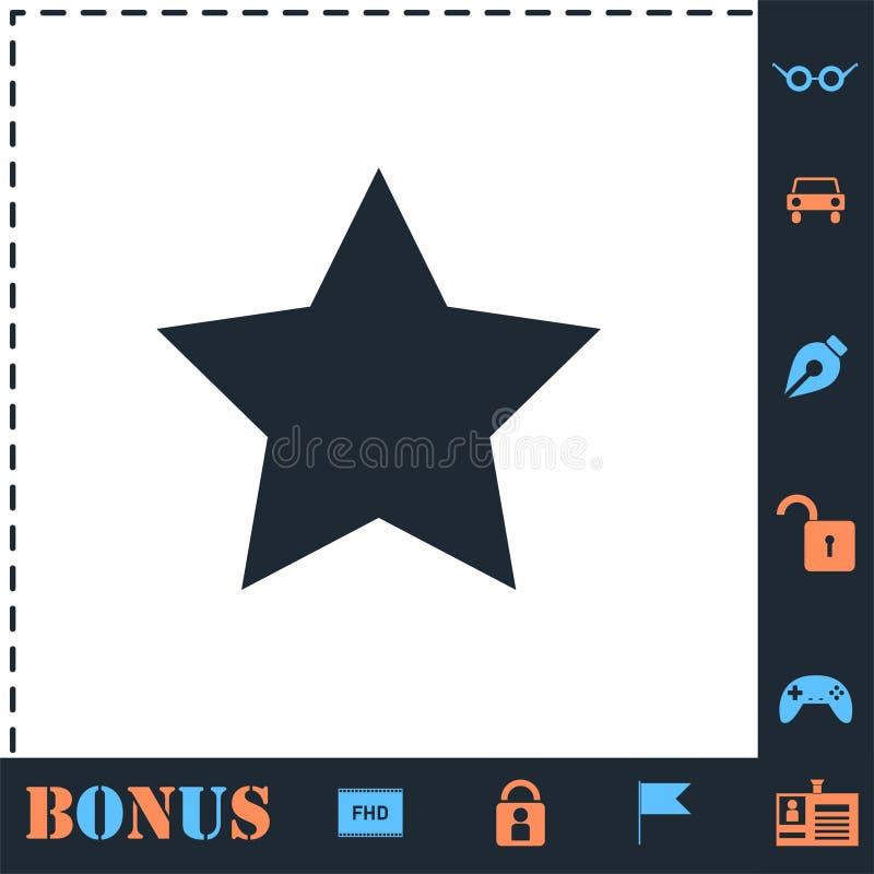 ?cone favorito da estrela horizontalmente ilustração royalty free