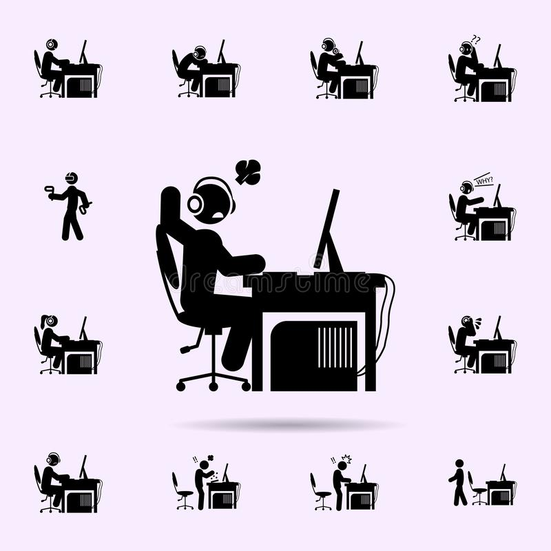 ?cone feliz do homem grupo universal dos ?cones do gamer para a Web e o m?bil ilustração do vetor