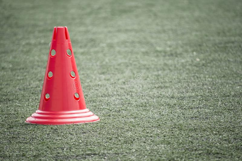 Cone in the field for training royalty free stock images