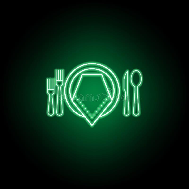 ?cone formal do jantar Pode ser usado para a Web, logotipo, app m?vel, UI, UX ilustração do vetor