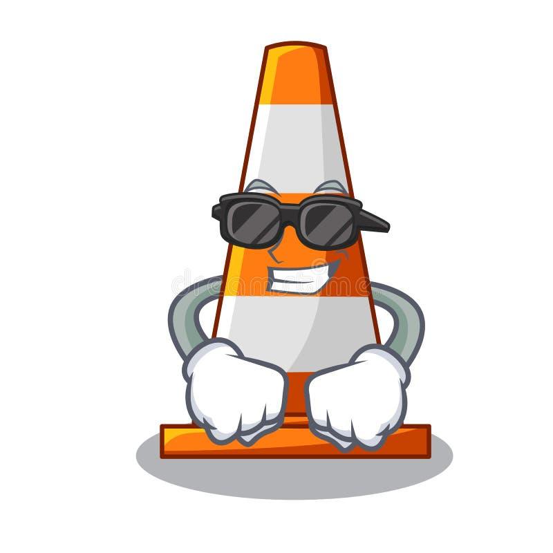 Cone fresco super do tráfego Made nos desenhos animados ilustração do vetor