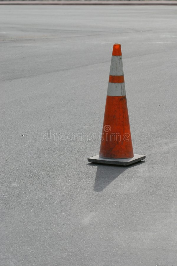 Download Cone on Fresh Roadway stock photo. Image of building, fresh - 49222
