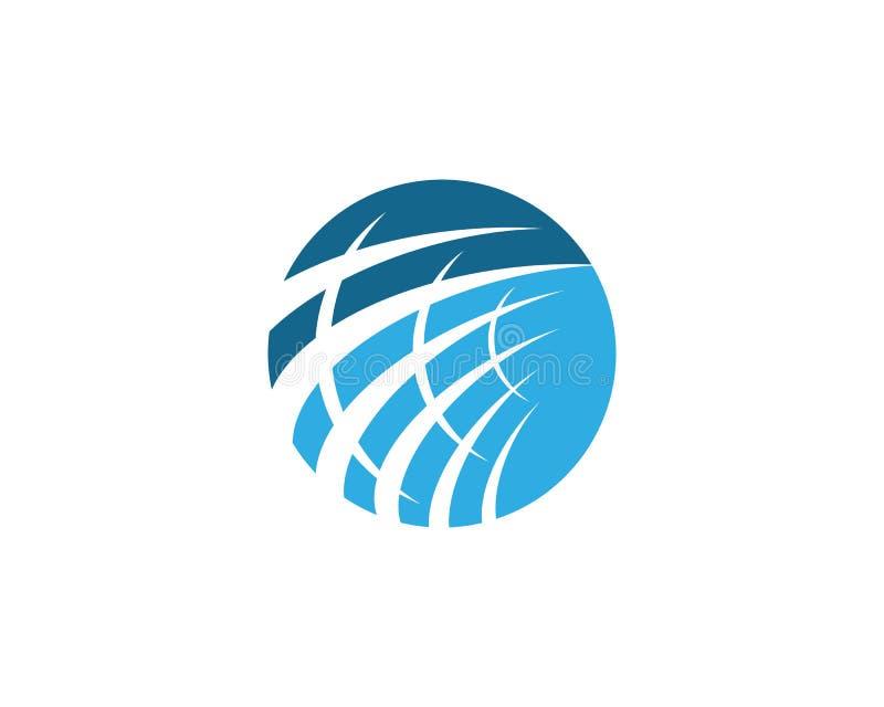 ?cone global do logotipo ilustração stock