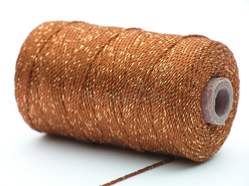 Download Cone with golden thread stock photo. Image of metallic - 185288