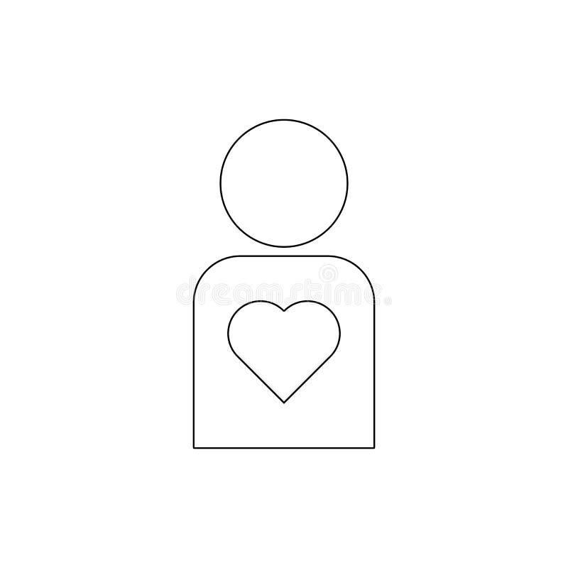 ?cone humano saud?vel do esbo?o Os sinais e os s?mbolos podem ser usados para a Web, logotipo, app m?vel, UI, UX ilustração royalty free