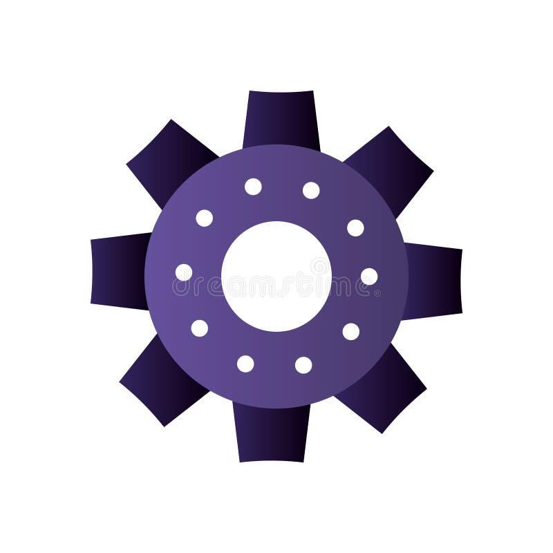 ?cone isolado engrenagem do motor ilustração do vetor