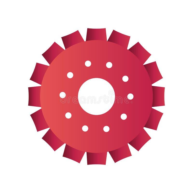 ?cone isolado engrenagem do motor ilustração stock