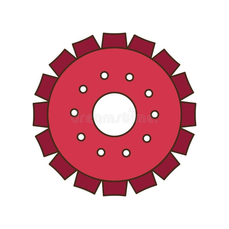 ?cone isolado engrenagem do motor ilustração royalty free