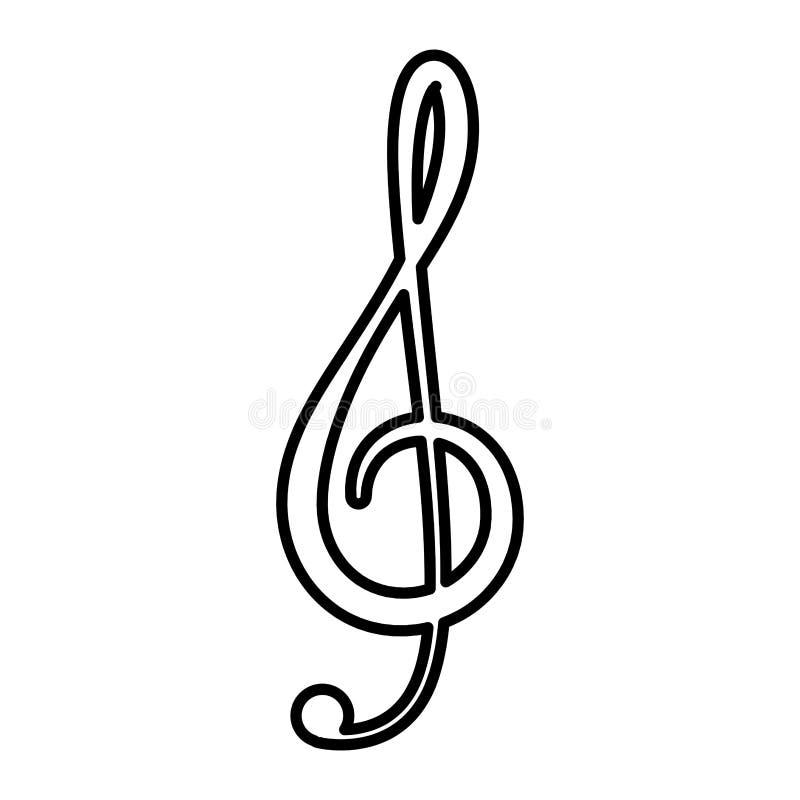 ?cone isolado nota da m?sica ilustração stock