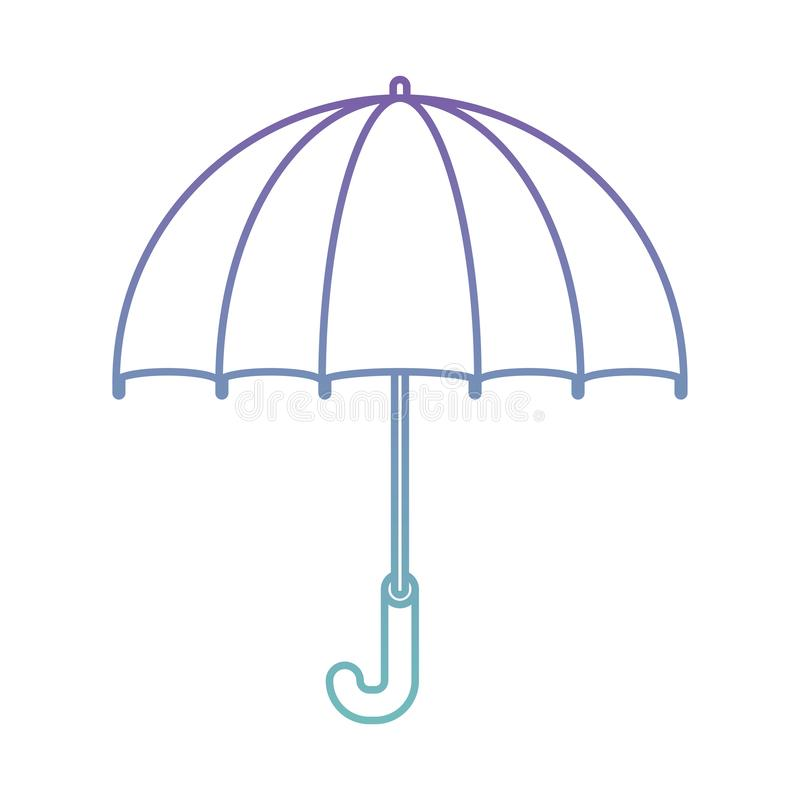 ?cone isolado praia do guarda-chuva ilustração royalty free