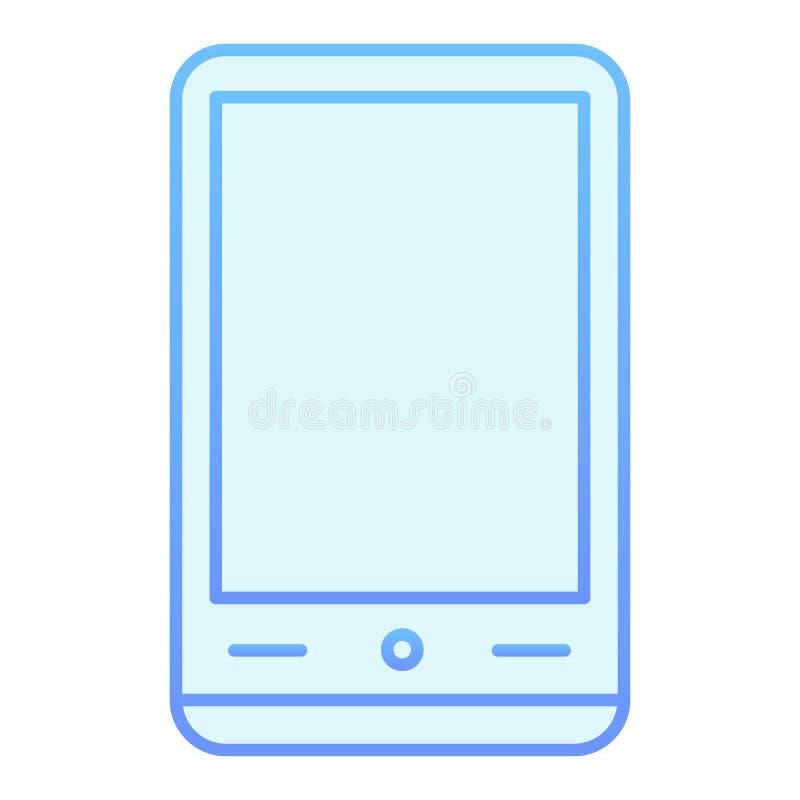 ?cone liso de Smartphone ?cones azuis do telefone no estilo liso na moda Projeto do estilo do inclina??o do telefone celular, pro ilustração royalty free