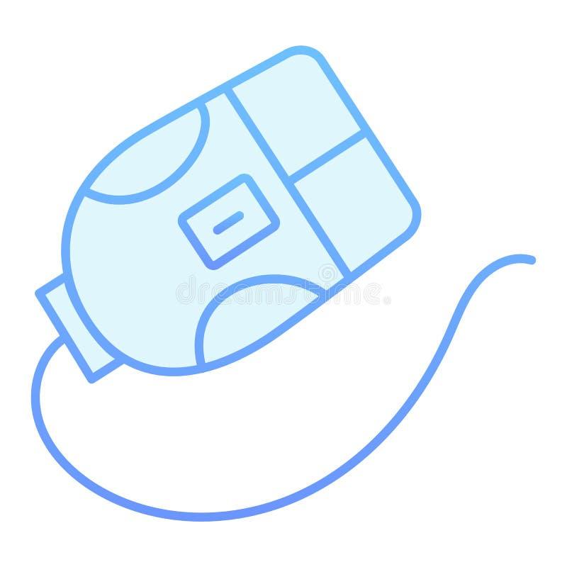 ?cone liso do rato do computador Clique ?cones azuis no estilo liso na moda Projeto do estilo do inclina??o do dispositivo, proje ilustração stock