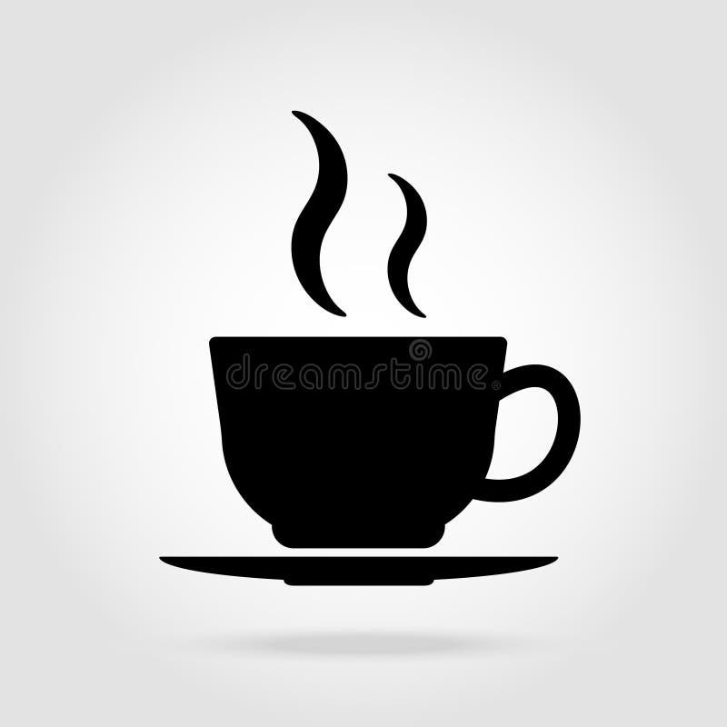 ?cone liso do vetor do copo de caf? Copo de ch? S?mbolo do copo de caf? para o logotipo, Web, ui, menu, projeto da posi??o ilustração royalty free