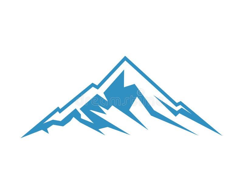 ?cone Logo Business Template Vetora da montanha ilustração royalty free
