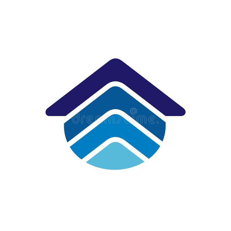 ?cone Logo Design Element de Real Estate Conceito de projeto azul do inclinação Ilustra??o do vetor ilustração do vetor