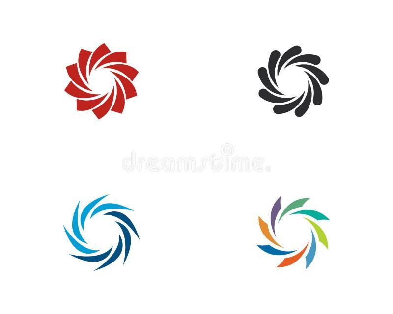 ?cone Logo Template da ilustra??o do vetor do redemoinho ilustração do vetor