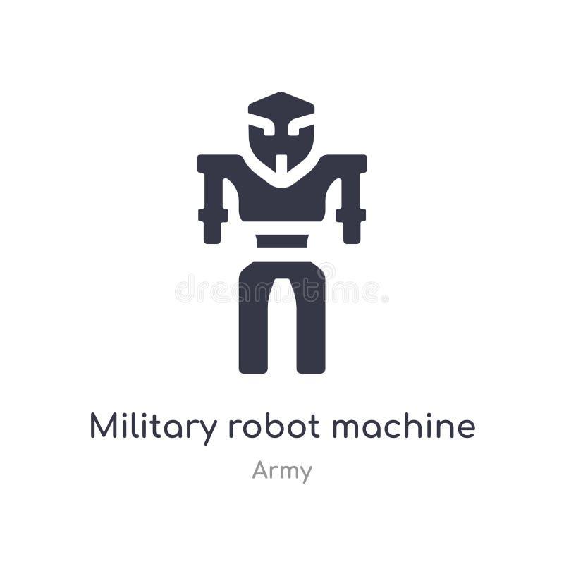 ?cone militar da m?quina do rob? ilustração militar isolada do vetor do ícone da máquina do robô da coleção do exército edit?vel  ilustração stock